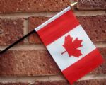 HAND WAVING FLAG (SMALL) - Canada